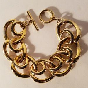 Vintage Circle Goldtone Bracelet